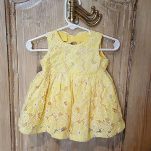 The Children's Place yellow lace floral dress